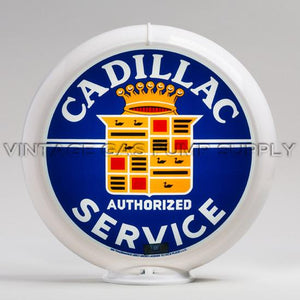 "Cadillac Service 13.5"" Gas Pump Globe with White Plastic Body"