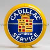 "Cadillac Service 13.5"" Gas Pump Globe with Yellow Plastic Body"