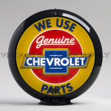 "Chevrolet Parts 13.5"" Gas Pump Globe with Black Plastic Body"