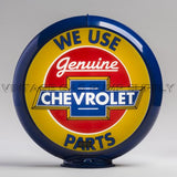 "Chevrolet Parts 13.5"" Gas Pump Globe with Dark Blue Plastic Body"