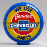 "Chevrolet Parts 13.5"" Gas Pump Globe with Light Blue Plastic Body"