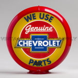 "Chevrolet Parts 13.5"" Gas Pump Globe with Red Plastic Body"
