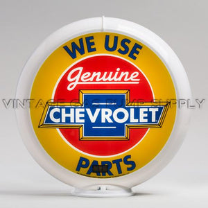 "Chevrolet Parts 13.5"" Gas Pump Globe with White Plastic Body"