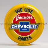 "Chevrolet Parts 13.5"" Gas Pump Globe with Yellow Plastic Body"