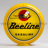 "Beeline Gasoline 13.5"" Gas Pump Globe with Yellow Plastic Body"