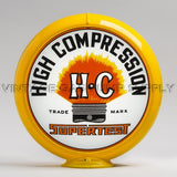 "Supertest HC 13.5"" Gas Pump Globe with Yellow Plastic Body"