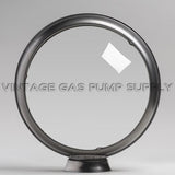 "Clear 13.5"" Gas Pump Globe with Steel Body"
