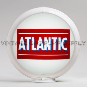 "Atlantic Bar 13.5"" Gas Pump Globe with White Plastic Body"