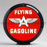 "Flying A Gasoline 13.5"" Gas Pump Globe with Black Plastic Body"