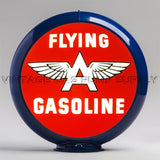 "Flying A Gasoline 13.5"" Gas Pump Globe with Dark Blue Plastic Body"