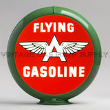 "Flying A Gasoline 13.5"" Gas Pump Globe with Green Plastic Body"