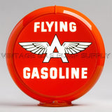 "Flying A Gasoline 13.5"" Gas Pump Globe with Orange Plastic Body"