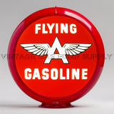 "Flying A Gasoline 13.5"" Gas Pump Globe with Red Plastic Body"