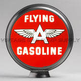 "Flying A Gasoline 13.5"" Gas Pump Globe with Steel Body"