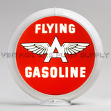 "Flying A Gasoline 13.5"" Gas Pump Globe with White Plastic Body"