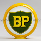 "BP 13.5"" Gas Pump Globe with Yellow Plastic Body"