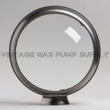 "Clear 15"" Gas Pump Globe with Steel Body"