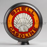 "Roxana Shell (Yellow) 15"" Gas Pump Globe with Steel Body"