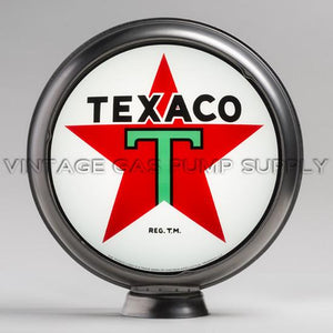 "Texaco Star 15"" Gas Pump Globe with Steel Body"