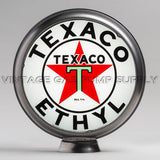 "Texaco Ethyl (White) 15"" Gas Pump Globe with Steel Body"