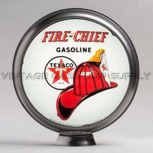 "Texaco Fire Chief 15"" Gas Pump Globe with Steel Body"