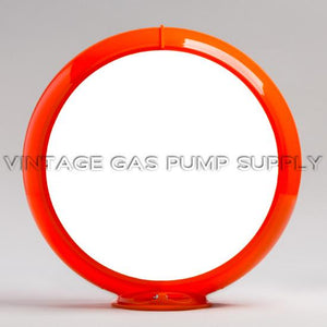 "13.5"" Orange Plastic Globe Body"