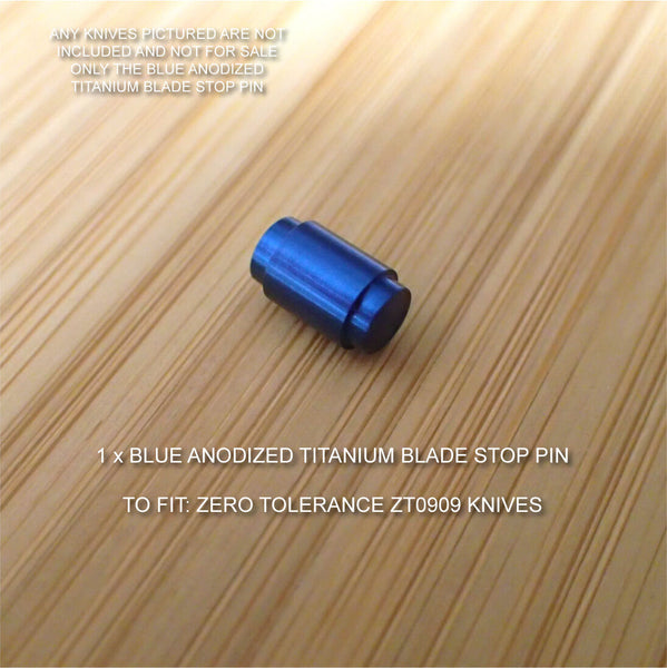 Zero Tolerance ZT0909 ZT909 ZT 909 Knife Custom Titanium Blade Stop Pin  BLUE