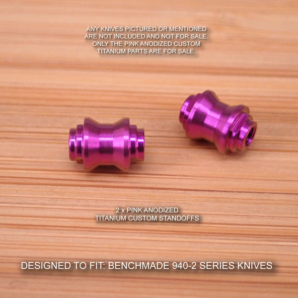 Benchmade 940-2 Osborne Custom Titanium Standoffs Spacers Anodized - PINK