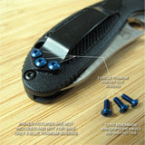 Benchmade 555 556 Mini Griptilian Replacement BLUE Titanium Pocket Clip Screws