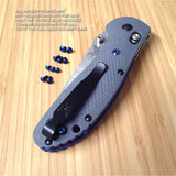 Benchmade 550-1 New G10 Gray Griptilian 10PC Replacement BLUE Titanium Screw Set
