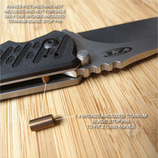 Zero Tolerance ZT0550 550 ZT Knife Anodized Titanium Blade Stop Pin - BRONZE