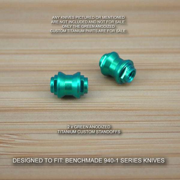 Benchmade 940-1 Osborne Custom Titanium Standoffs Spacers Anodized - GREEN