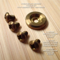 Hinderer Knives XM18 XM24 Custom 5pc Titanium LBS Washer & Screw Set - BRONZE