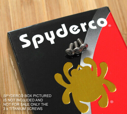 3 pc Titanium Pocket Clip Screws Set for Spyderco Para 3 PM3 Para3 (no knife)