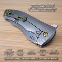 Zero Tolerance ZT0920 ZT 0920 920 Custom Titanium 12pc Screw & Pivot Set BRONZE
