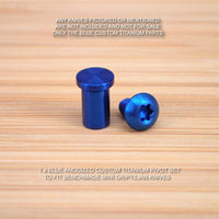 Benchmade 555 556 557 558 Mini Grip Griptilian 2PC Titanium Pivot Screw Set BLUE