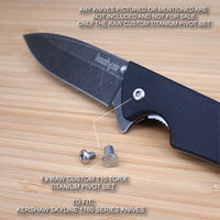 Kershaw Skyline 1760 1760BW 1760DAM Custom RAW Titanium Pivot Set - NO KNIFE