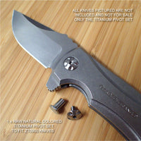 Zero Tolerance ZT0900 ZT 900 0900 Knife RAW Custom Titanium Pivot Torx Screw Set