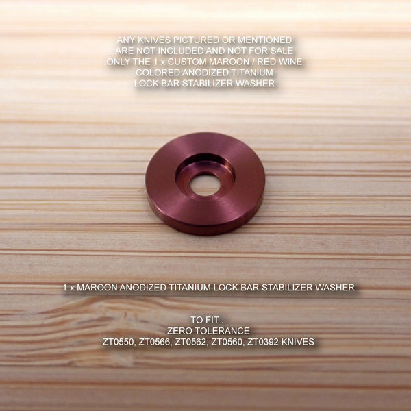 Zero Tolerance ZT0562 562 0562 ZT Titanium LBS Lock Bar Stabilizer Washer MAROON