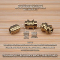 Benchmade 535 BUGOUT 3pc 535GRY-1 Titanium Standoffs & Blade Stop Pin - BRASS