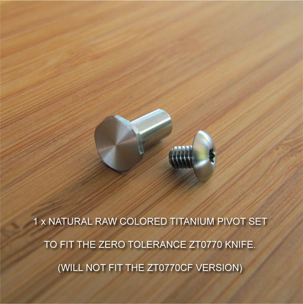 Zero Tolerance ZT0770 ZT 770 Knife NATURAL RAW Titanium Pivot Torx Screw Set
