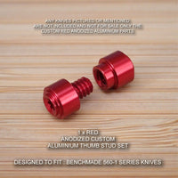 BENCHMADE 560BK-1 Super FREEK 2pc Custom Designed Thumb Stud Set Anodized RED