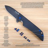 Kershaw Skyline 1760 1760DAM Knife 8pc Custom Anodized Titanium Screw Set - BLUE