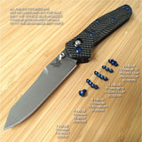 Benchmade 940-1 Osborne 16pc BLUE Anodized Titanium Screw & Pivot Set - NO Knife