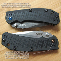 Zero Tolerance ZT0550 ZT 550 Knife BRONZE Anodized Titanium Pivot Torx Screw Set