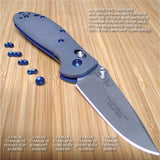 Benchmade 555-1 556-1 New G10 Gray Mini Griptilian 10PC BLUE Titanium Screw Set