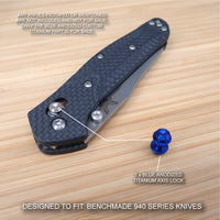 Benchmade 940-1 Osborne BLUE Anodized Custom Titanium Axis Lock - No Knife