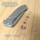 Zero Tolerance ZT0801 801 ZT0801BW 0801 ZT Knife 13PC Titanium Screw Set RAW Ti