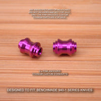 Benchmade 940-1 Osborne Custom Titanium Standoffs Spacers Anodized - PINK