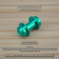 Benchmade 940-1 Osborne Custom Titanium Axis Lock Bar Anodized - GREEN
